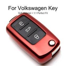TPU Protection Car Key Case Cover Skin Shell For Skoda Octavia A5 Fabia For VW Golf Bora Jetta POLO GOLF Passat SEAT Ibiza Leon
