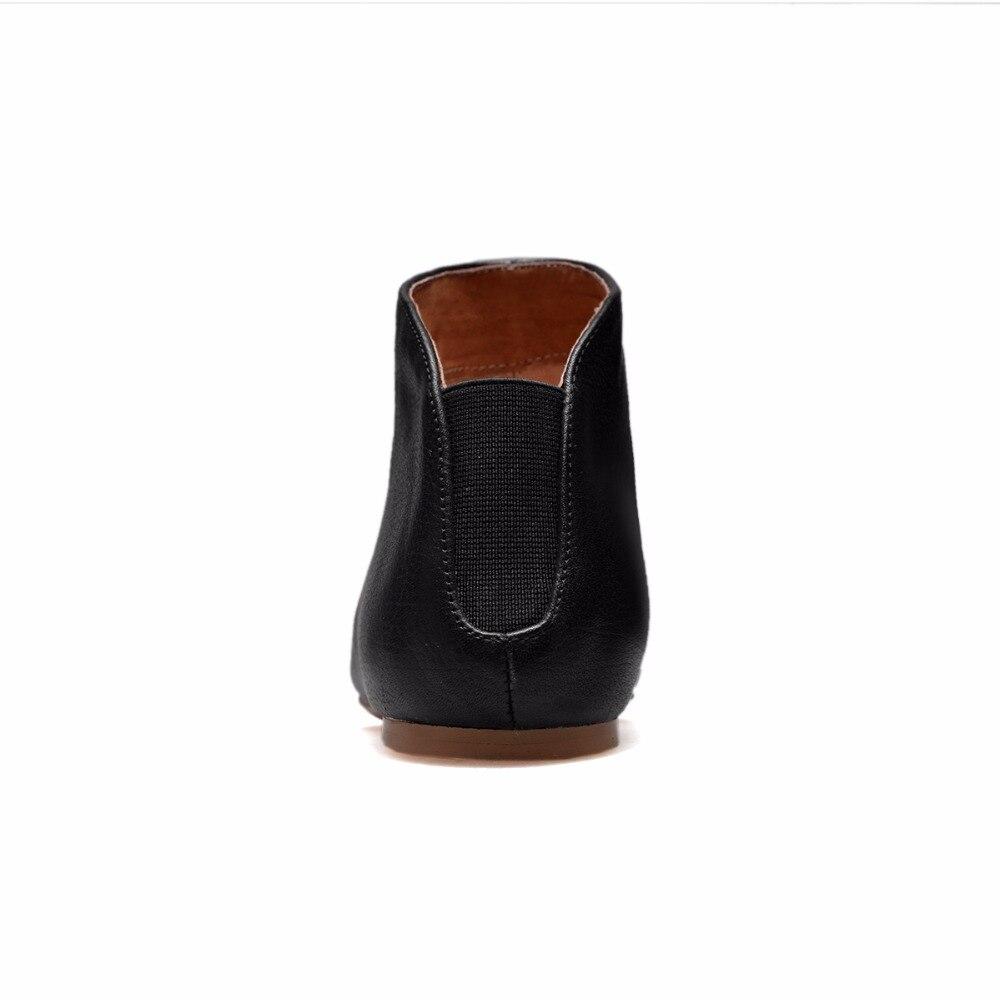 أردن Furtado 2019 الربيع والخريف جلد طبيعي الانزلاق على الأحذية البيضاء أوكسفورد الشقق أزياء حذاء من الجلد أحذية للمرأة 33  43-في أحذية الكاحل من أحذية على  مجموعة 3
