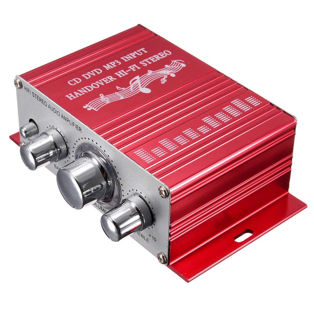 RCA 2CH Hi-Fi סטריאו מגבר Booster MP3 רמקול לרכב DVD מיני Moto