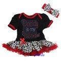 Девочка одежда горный хрусталь папа мой валентина красный леопард короткими рукавами боди повязка на голову 0 - 18 м