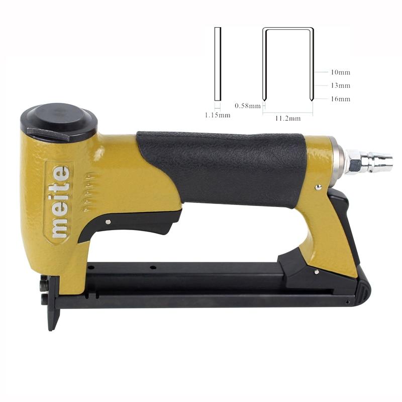 High Quality Mt1016J Pneumatic Nailer Gun U Type Air Stapler Nail Gun Tool high quality cn55 industrial pneumatic coil nailer roofing air nail gun tool