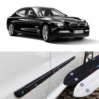 Car styling 4pcs Side Doors Rubber Bumper Protector Guard Scratch Sticker Trim For BMW Vehicle