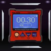 Dxl 360s Высокая точность двойной оси Угол Цифровой измеритель Дисплей измеритель уровня правитель dxl 360s обновления Мера коробка Транспортиры