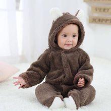 Baby Flannel 3D Bear Romper