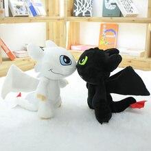 Как приручить дракона 3 Беззубик свет ярость Плюшевые игрушки Мягкие Аниме-фигурка Ночная ярость детские игрушки подарок на день рождения