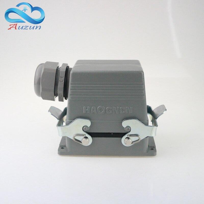 H32B-HSB-012-1 Maatregel Lijn Keperstof 12 Core 35 Een 500 V Grote Huidige Zware Air Connector Plug Schroef Voeten