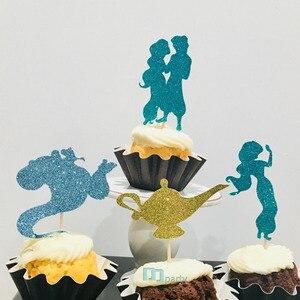 Image 3 - 12Pcs Prinses Prins Cupcake Toppers, Prinses Cupcake Topper, Kind Verjaardag Cupcake Toppers Feestartikelen