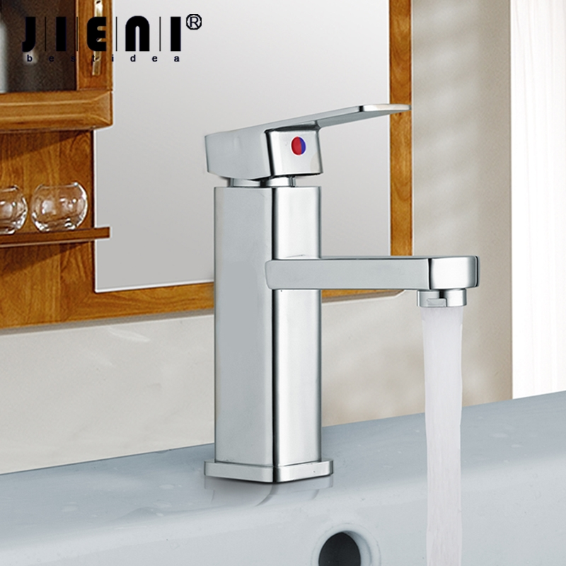 DE Bathroom Faucet Basin Sink Tap Hot and Cold Water Mixer Tap Deck Mounted Bathroom Faucet Without the Hose