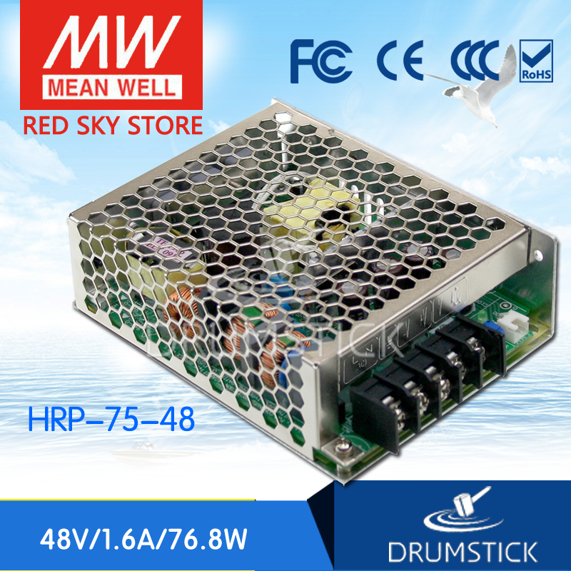 MEAN WELL HRP-75-48 48V 1.6A meanwell HRP-75 48V 76.8W Single Output with PFC Function Power Supply [Real1] mean well usp 150 48 48v 3 2a meanwell usp 150 48v 153 6w u bracket with pfc function power supply