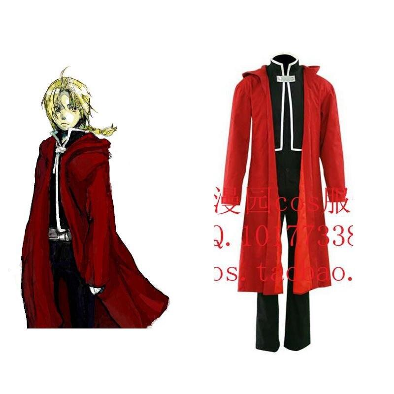 2016 Fullmetal alchemist edward elric cosplay costume red mens fullmetal alchemist cosplay Halloween