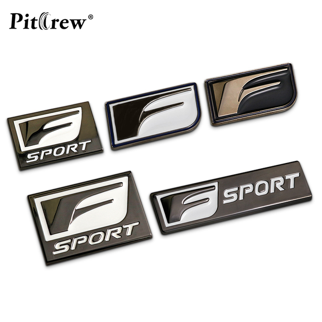 F sport metal sticker custom text personalized stereo letter motorcycle car stickers diy emblem sticker car