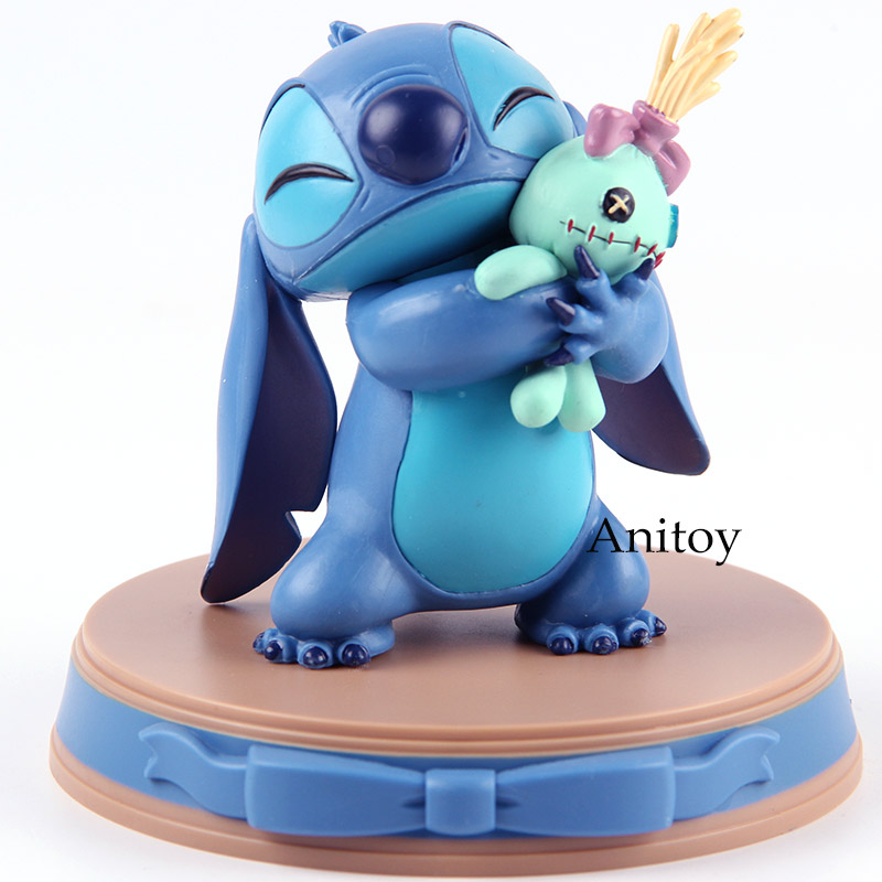 Lilo & Stitch Figurine Stitch and Scrump Happiness Moment Beast Kingdom D-Select 004 PVC Action Figures Collectible Model Toy figurine