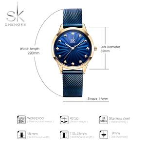 Image 5 - Shengke Wrist Watch Women Fashion Stainless Steel Quartz Watches Bracelet Clock Relogio Feminino 2018 SK Luxury Ladies Watches