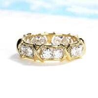 1 4ctw Charles Colvard Classic X Round Moissanite Men Women Wedding Ring Aniversary Band Eternity Band