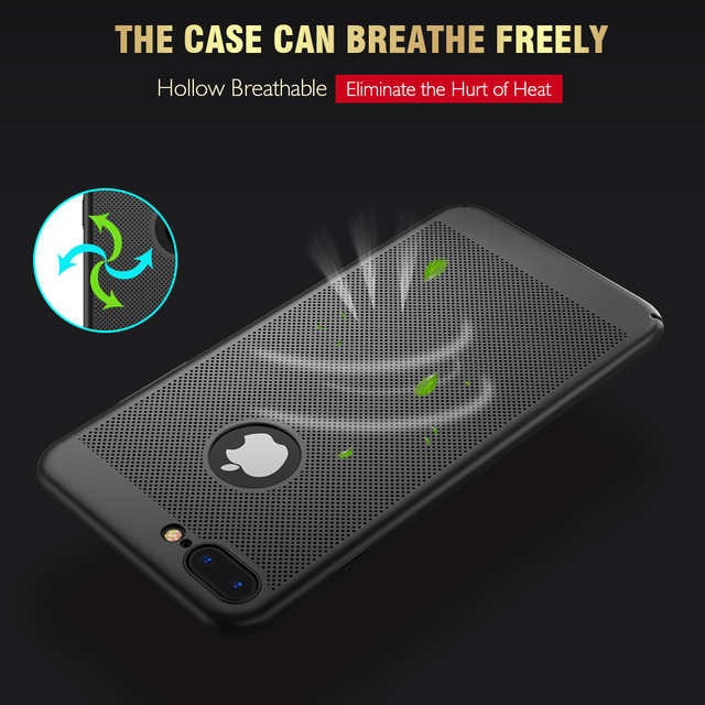Ultra Slim Phone Case iPhone 6 6s 7 8 Plus Hollow Heat Dissipation Cases Hard PC For iPhone 5 5S SE Back Cover X S MAX *