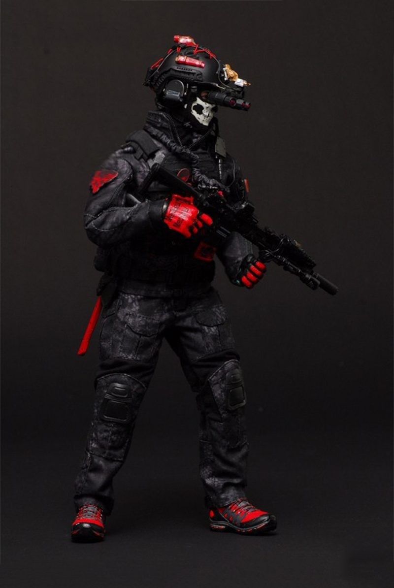 1/6 escala el sello de la Marina CQB ropa táctica de combate conjunto de pitón negro para 12 ''accesorios de figuras de cuerpos-in Figuras de juguete y acción from Juguetes y pasatiempos    1