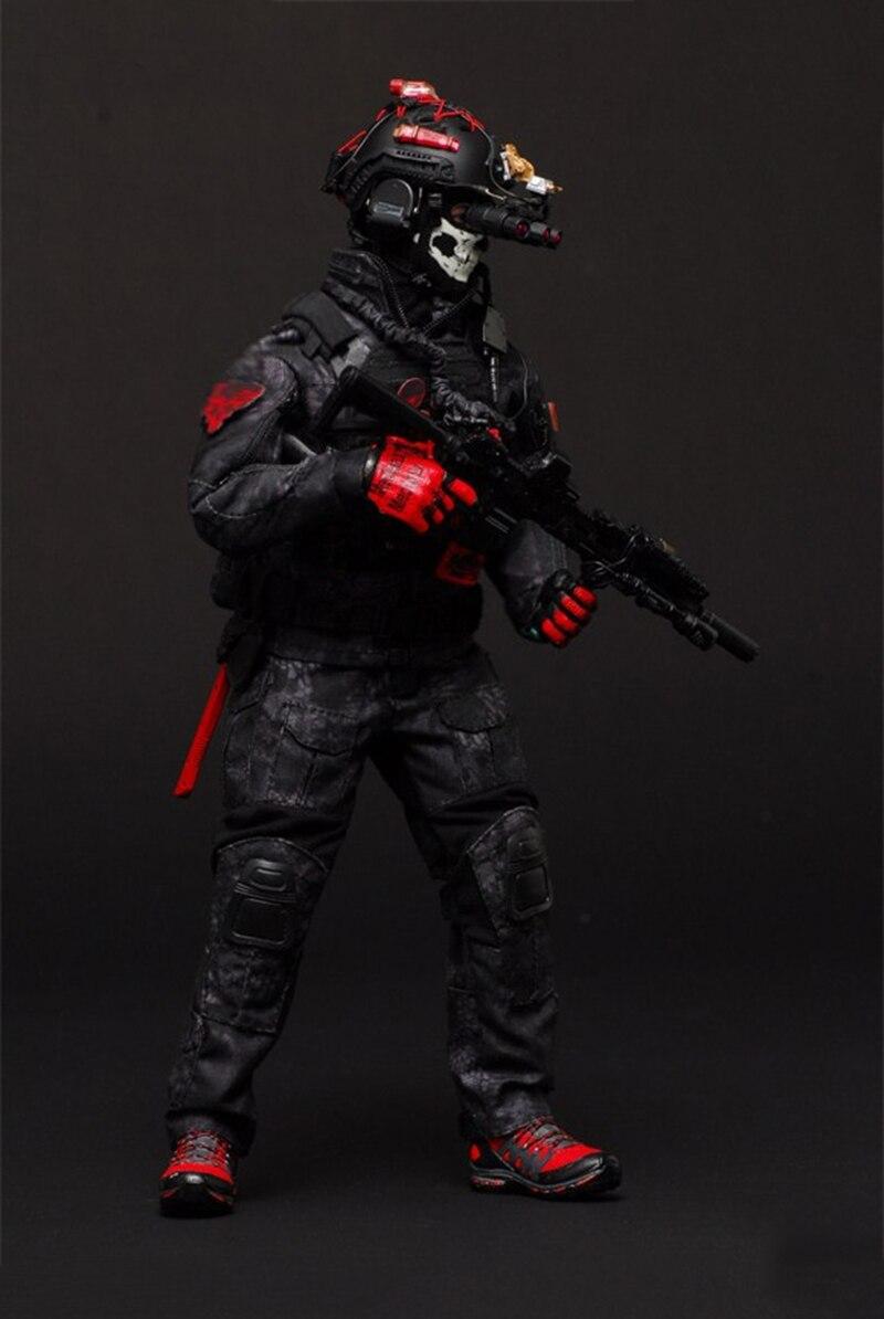 Oyuncaklar ve Hobi Ürünleri'ten Aksiyon ve Oyuncak Figürleri'de 1/6 Ölçekli Donanma Seal CQB Savaş Taktik Giysi Set Siyah Python 12 ''Organları Figürleri Aksesuarları'da  Grup 1