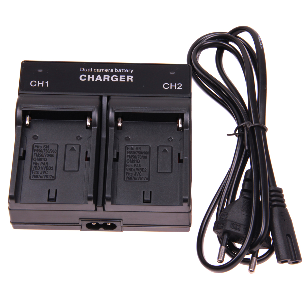 Dual Channel Battery Charger FOR SONY NP-F550 F970 F960 F770 F750 F570 FX1000E BC-V615,BC-V615A