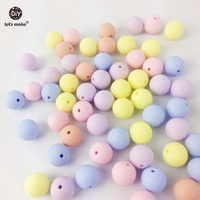 Let's Make Silicone Beads Teether Candy Color 50PC 12-20mm Materials Baby Teether DIY Baby Safe Rattle Toys Sensory Toys Beads