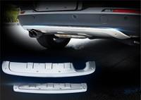 Нержавеющаясталь спереди + задний бампер диффузор бамперы для губ протектор гвардии, пригодный для Volkswagen Tiguan MK1 2013 2014 2015