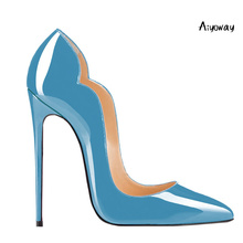 Aiyoway Women Shoes Ladies Pointed Toe High Heels Pumps Autumn Spring Clubwear Party Shoes Slip On Sexy Thin Heels Blue Yellow недорго, оригинальная цена
