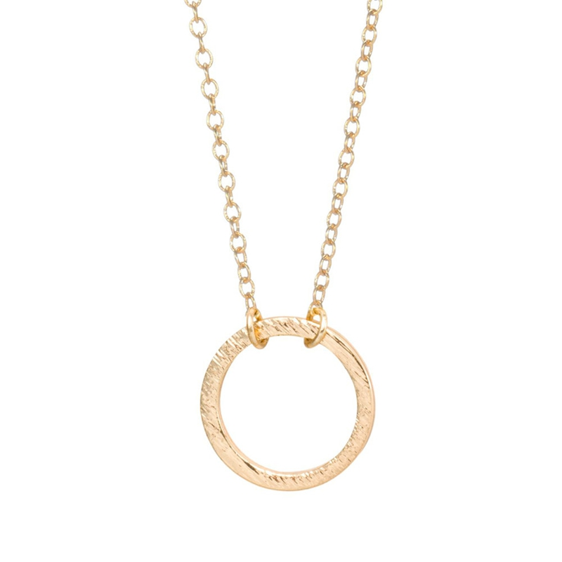 Wholesale 2018 brushed forever circle pendant necklaces for women material copperchainlobsterpendants all made of copper chain length18 color 18k goldsilver platedother colors can be custom made package aloadofball Images
