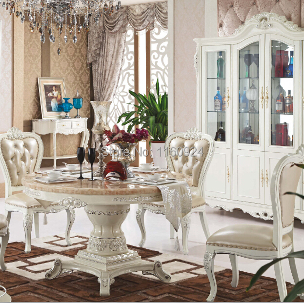 Oak Dining Room Sets With Hutch: Elegant Oak Dining Room Furniture : 1 Round Dining Table
