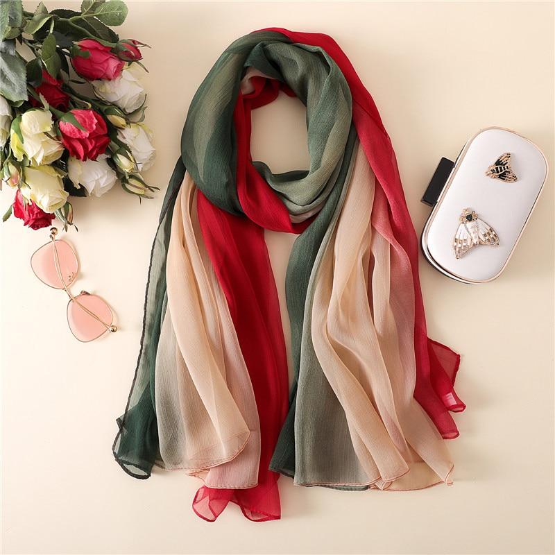 Kind-Hearted Muslim Women Gold Thread Shine Crinkle Hijab Shawl Scarves Sunscreen Silk Plain Foulard Wrap Cover Head Neck Beach Tassels Scarf Rapid Heat Dissipation Apparel Accessories