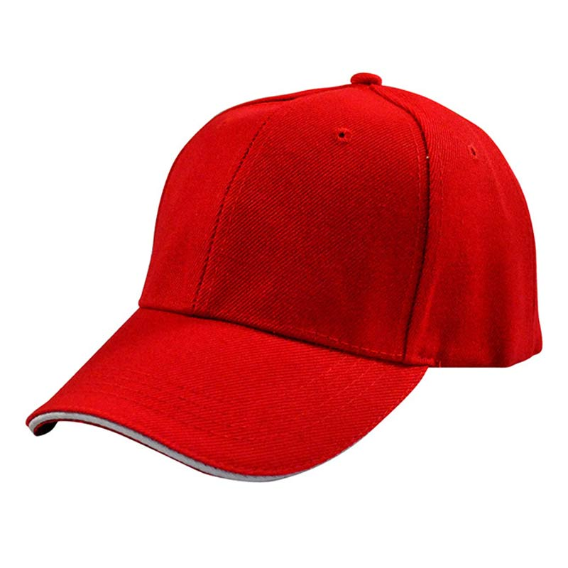 Unisex 6 Panel Plain   Baseball     Cap   Basic Curved Visor Snapback Red Black Pink Brown Orange Various Solid Colors