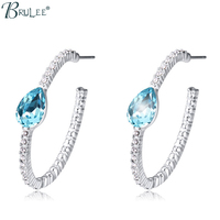 2016 New Fashion Big Earrings For Women Crystal From Swarovski Elements Crystal Water Drop Earrings Color