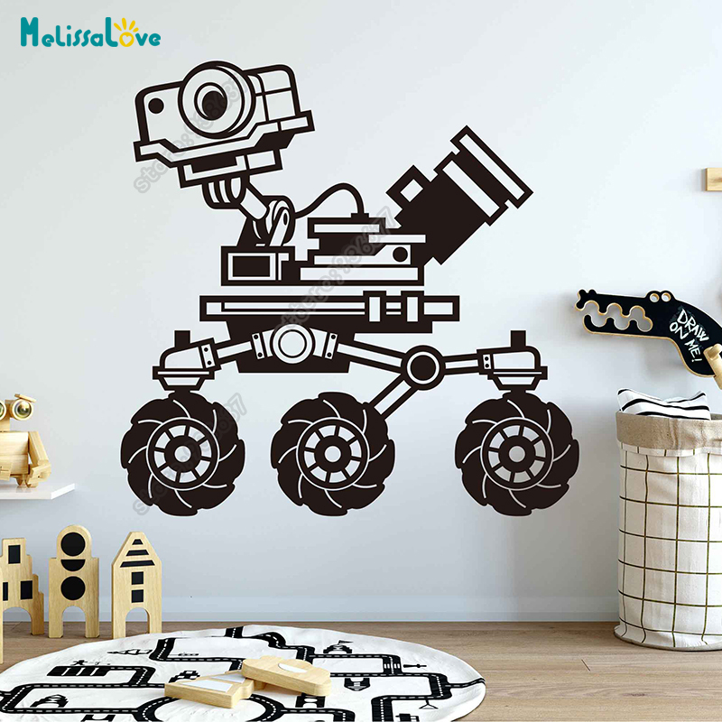 Space Sticker Decal Cosmic Detector Decoration Vinyl Wall Home Decor Baby Room Removable Vinyl Wall Sticker SK023