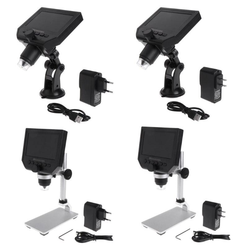 G600 4 3 LCD Digital Microscope LED Zoom 1 600X 3 6MP HD Camera Video Recorder