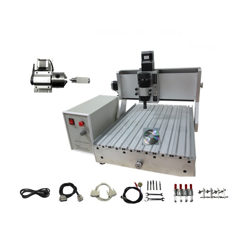 3040 3D CNC router milling machine mechanical kit ball screw with 500w spindle, assembled cnc machine, can use directly Числовое программное управление