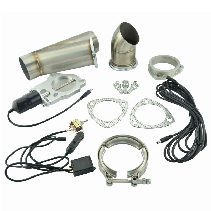 2.25 Inch System Remote Exhaust Catback Downpipe Cutout E Cut Valve Out Muffler Bypass With Manual Switch Car Modified Part tansky 3 5 electric exhaust catback downpipe cutout e cut out valve switch control remote for jeep cherokee xj 91 01 tk cut2y35