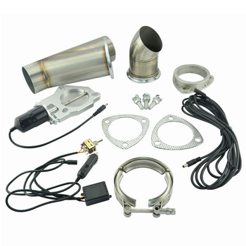 2.25 Inch System Remote Exhaust Catback Downpipe Cutout E Cut Valve Out  Muffler Bypass With Manual Switch Car Modified Part