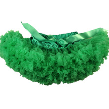 Extra full baby tutu Solid Green pettiSkirt Factory Offer tutu Christmas Girls' Clothing mommy and daughter matching clothes