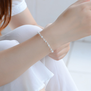 TJP Trendy Women 925 Silver Bracelets Jewelry Fashion Hollow Balls Girl Anklets For Engagement Party Female Bijou