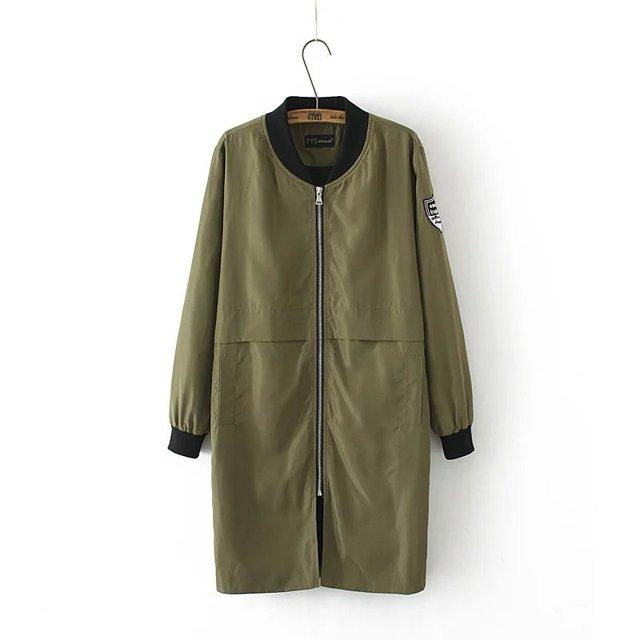 Nueva Europa Cazadora Larga Cremallera Del Collar Del Mandarín de Moda Femenina de Ancho de cintura Trench Coat Para Las Mujeres T1649