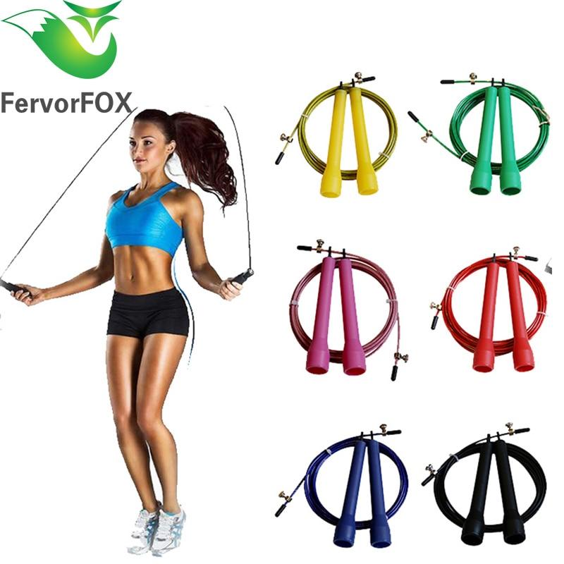 3m High Speed Aerobic Steel Wire Skipping Rope Length Adjustable Jump Rope Crossfit Fitness Equipment Skip Rope