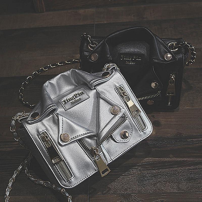 2018 New Fashion Women Handbags Chain Rivet Casual Ladies Shoulder Bag Jacket Trend Clothes Shape Crossbody Bags For Women H04 koy h04 k61