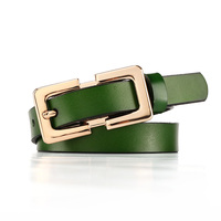 Retail 2015 New Summer Style Decoration Pin Buckle Genuine Leather Belt For Women Colors Smooth Lady