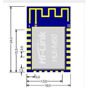 Image 2 - 2 قطعة/الوحدة منخفضة التكلفة HLK M50 RDA5981 استبدال esp8266 وحدة لاسلكية أرخص وحدة واي فاي المسلسل شحن مجاني
