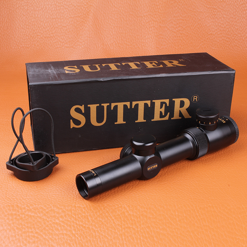 SUTTER 1-4X24 R12/R29 Glass Reticle Tactical Red illuminate optical sight For Hunting Rifle Scope
