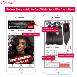Image 5 - Satai Brazilian Straight 4x4 lace closure Human Hair Wigs Pre Plucked Hairline with Baby Hair Remy Lace Closure Wig