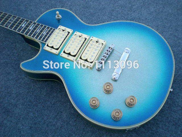 free shipping 2015 new g lp standard left hand electric guitar blue burst color with 3 pickups. Black Bedroom Furniture Sets. Home Design Ideas
