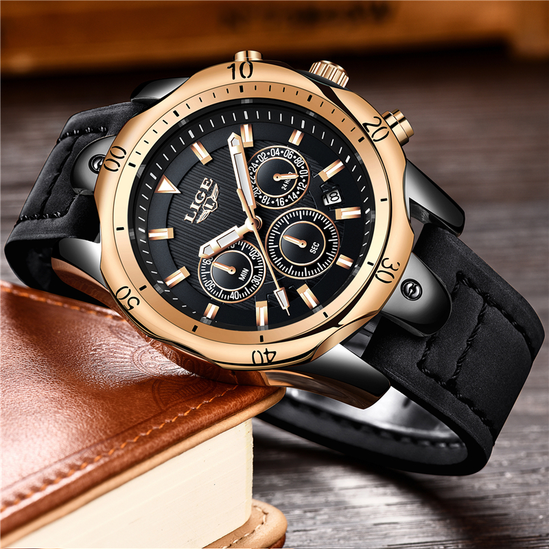 Hombres Reloj Top Luxury Brand LIGE Hombres deporte impermeable - Relojes para hombres