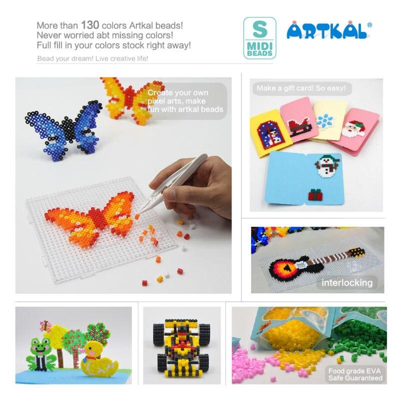 ARTKAL 7 свечение в темных тонах 1000 шт./пакет S-5mm perler бисер DIY обучающие игрушки-пазлы