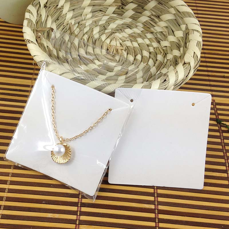 Hot  White 6.5x6.5cm   Kraft  Pendant Card  Necklace Card 1lot=200 pcs Cards  Blank Jewelry Card Custom Logo Cost Extra