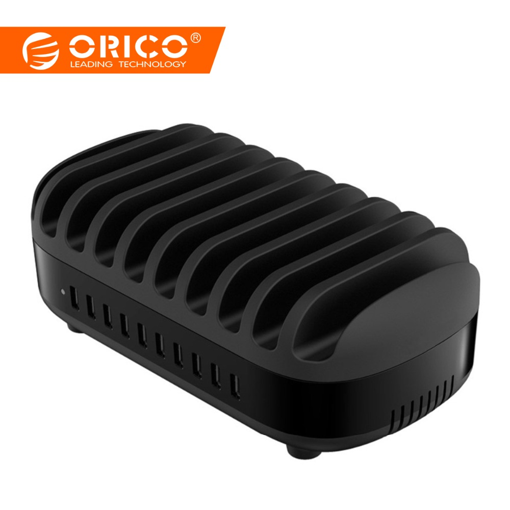 ORICO 10 Ports USB Ladegerät 120 W 5V2. 4A Smart Professionelle Ladestation Dock mit Halter Stehen für Iphone 7 6 s Power Bank