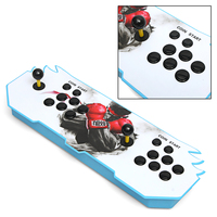 Key 6s 1388 in 1 Game Arcade Console usb Joystick Arcade Buttons with LED Glowing Light with Black Joystick Gamepad